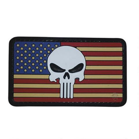 5ive Star Gear PVC Morale Patch Vintage Flag Punisher - WarriorInc Tactical Gear