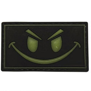 5ive Star Gear PVC Morale Patch Glow Smile - WarriorInc Tactical Gear