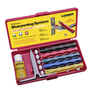 Lansky Deluxe 5-Stone System / Precision Knife Sharpening Kit LKCLX - WarriorInc Tactical Gear