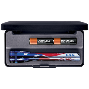 Maglite AA in Presentation Box - American Flag Design - WarriorInc Tactical Gear
