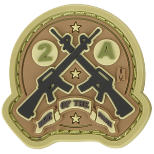 Maxpedition Morale Patch AR15 2A 1.4  x 1.3  (Arid) - WarriorInc Tactical Gear