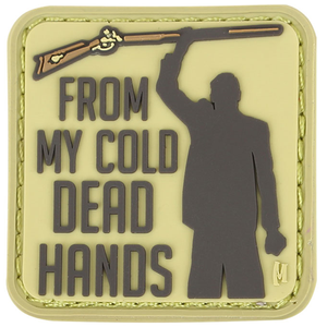 Maxpedition Morale Patch Cold Dead Hands 1.5  x 1.5  (Arid) - WarriorInc Tactical Gear