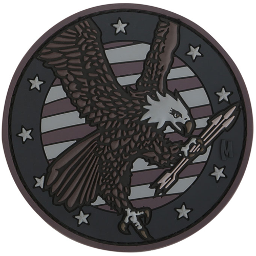 Maxpedition Morale Patch American Eagle 3.05  x 3.05  (Stealth) - WarriorInc Tactical Gear