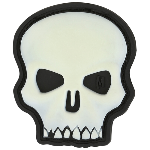 Maxpedition Morale Patch Hi Relief Skull (Glow) - WarriorInc Tactical Gear