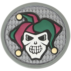 Maxpedition Morale Patch Jester Skull 1.7  x 1.7  (Full Color) - WarriorInc Tactical Gear