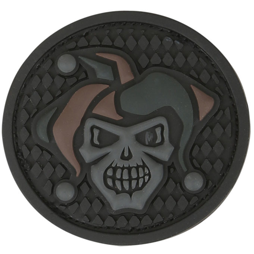 Maxpedition Morale Patch Jester Skull 1.7  x 1.7  (Stealth) - WarriorInc Tactical Gear