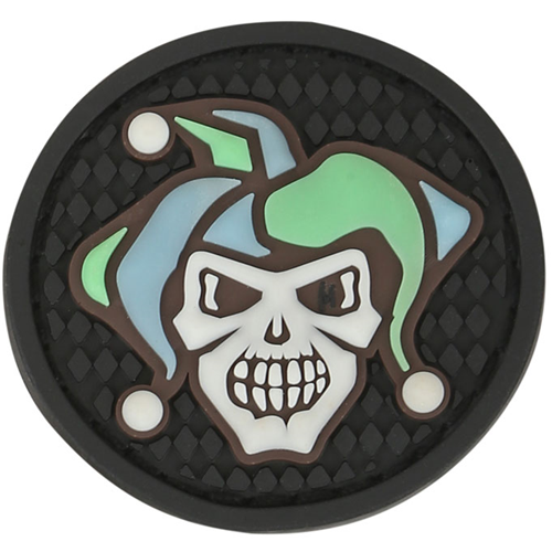 Maxpedition Morale Patch Jester Skull 1.7  x 1.7  (Glow) - WarriorInc Tactical Gear