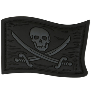 Maxpedition Morale Patch Jolly Roger (Stealth) - WarriorInc Tactical Gear