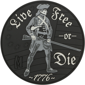 Maxpedition Morale Patch LIVE FREE OR DIE (SWAT) - WarriorInc Tactical Gear