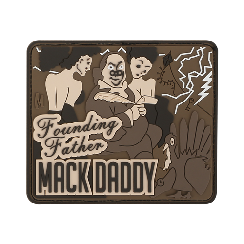 Maxpedition Morale Patch BEN FRANKLIN MACK (Arid) - WarriorInc Tactical Gear
