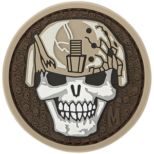 Maxpedition Morale Patch Soldier Skull (Arid) - WarriorInc Tactical Gear