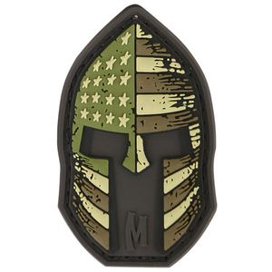 Maxpedition Morale Patch Stars and Stripes Spartan 2  x 1.2  (Arid) - WarriorInc Tactical Gear