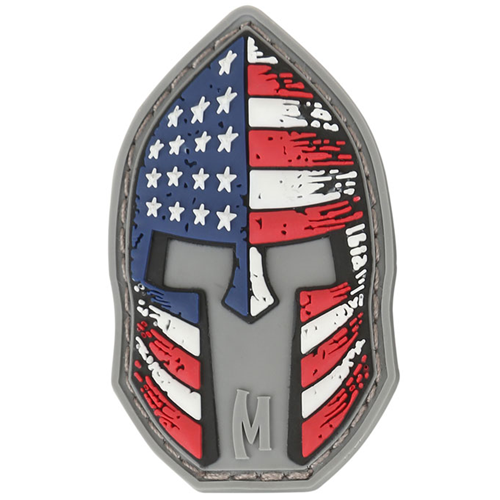 Maxpedition Morale Patch Stars and Stripes Spartan 2  x 1.2  (Full Color) - WarriorInc Tactical Gear