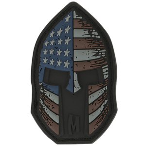 Maxpedition Morale Patch Stars and Stripes Spartan 2  x 1.2  (Stealth) - WarriorInc Tactical Gear
