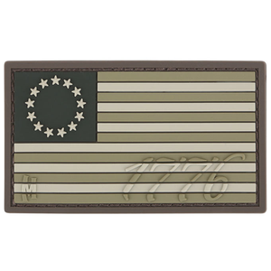 Maxpedition Morale Patch 1776 US Flag Patch (Arid) - WarriorInc Tactical Gear