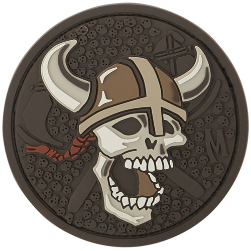 Maxpedition Morale Patch Viking Skull (Arid) - WarriorInc Tactical Gear