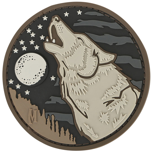 Maxpedition Morale Patch Wolf 2.4  x 2.4  (Arid) - WarriorInc Tactical Gear