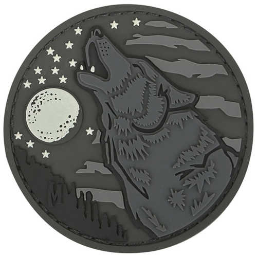 Maxpedition Morale Patch Wolf 2.4  x 2.4  (Glow) - WarriorInc Tactical Gear