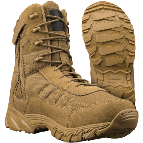 "Altama Vengeance SR 8"" Coyote Side Zip Boot - WarriorInc Tactical Gear"