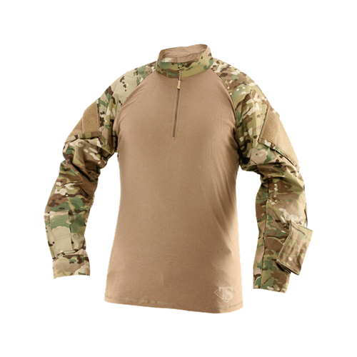 TruSpec TRU 1/4 Zip Combat Shirt MultiCam Poly/Cotton Rip Stop - WarriorInc Tactical Gear