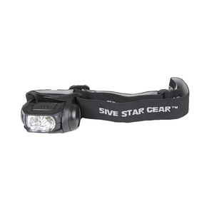 5ive Star Gear Headlamp Multi Function with Storbe Black - WarriorInc Tactical Gear