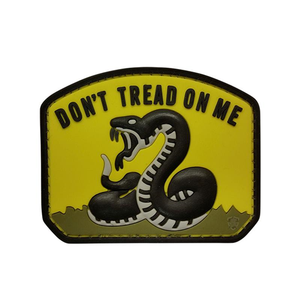 5ive Star Gear PVC Morale Patch Yellow Don't Tread on Me - WarriorInc Tactical Gear
