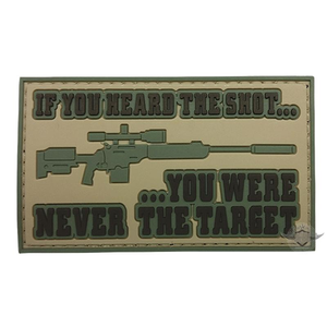 5ive Star Gear PVC Morale Patch Heard The Shot - WarriorInc Tactical Gear