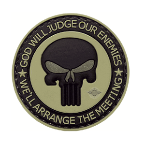 5ive Star Gear PVC Morale Patch Punisher Enemies - WarriorInc Tactical Gear