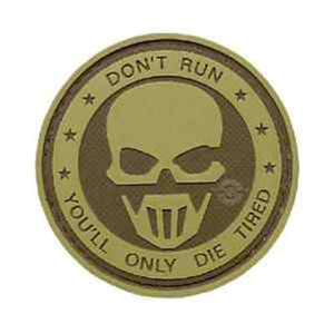 5ive Star Gear PVC Morale Patch Dont Run Ghost - WarriorInc Tactical Gear