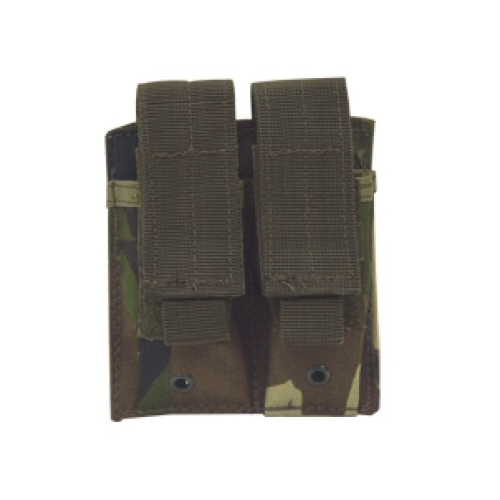 Voodoo Tactical Double Pistol Mag Pouch - Woodland Camo - WarriorInc Tactical Gear