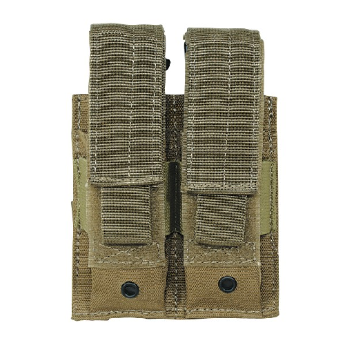 Voodoo Tactical Double Pistol Mag Pouch - Coyote - WarriorInc Tactical Gear