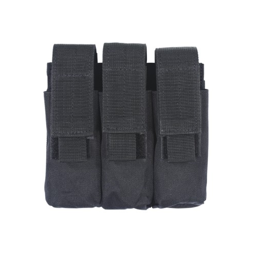 Voodoo Tactical Triple Pistol Mag Pouch - Black - WarriorInc Tactical Gear