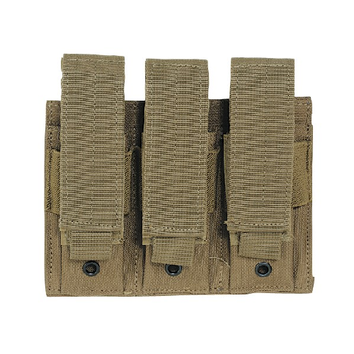 Voodoo Tactical Triple Pistol Mag Pouch - Coyote - WarriorInc Tactical Gear