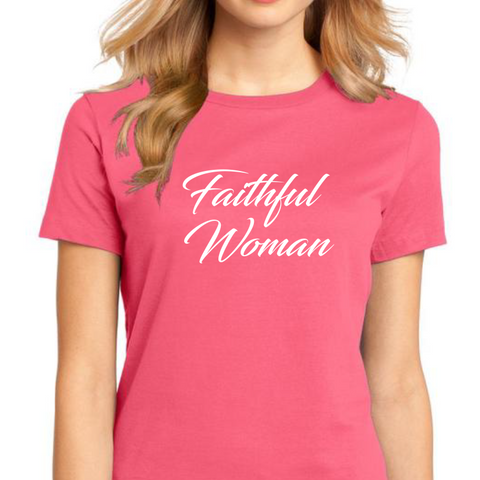 Faithful Woman Crewneck Tee