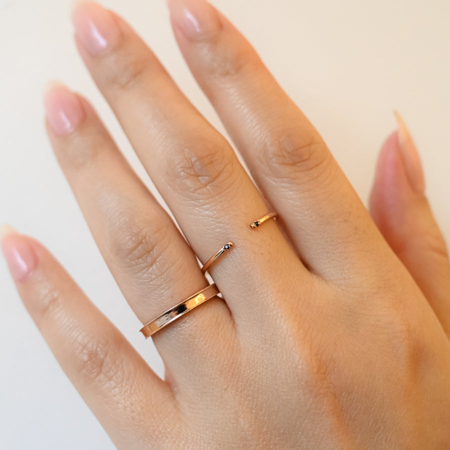 Milgrain Rose Gold Band