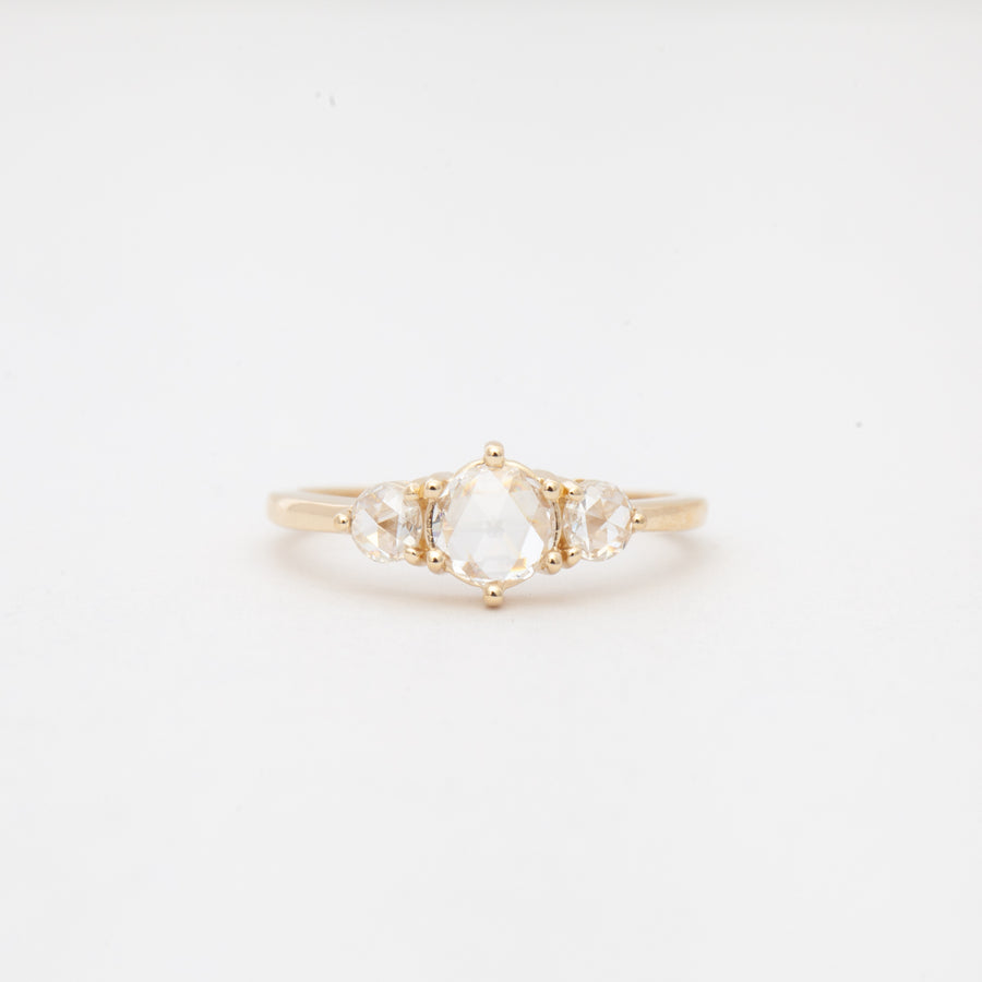 White Diamond Large Tidals Ring