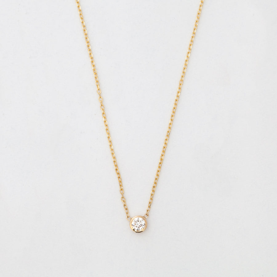 Gold Medium Barely-There Diamond Necklace