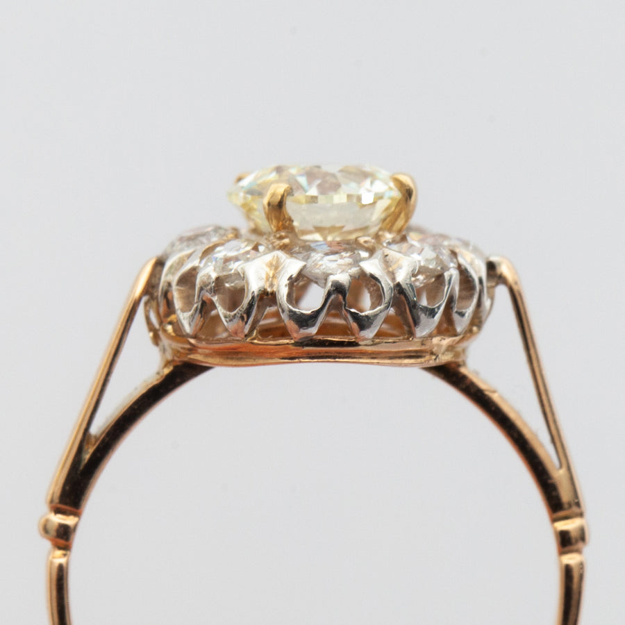 1.81 ctw Victorian Cluster Ring