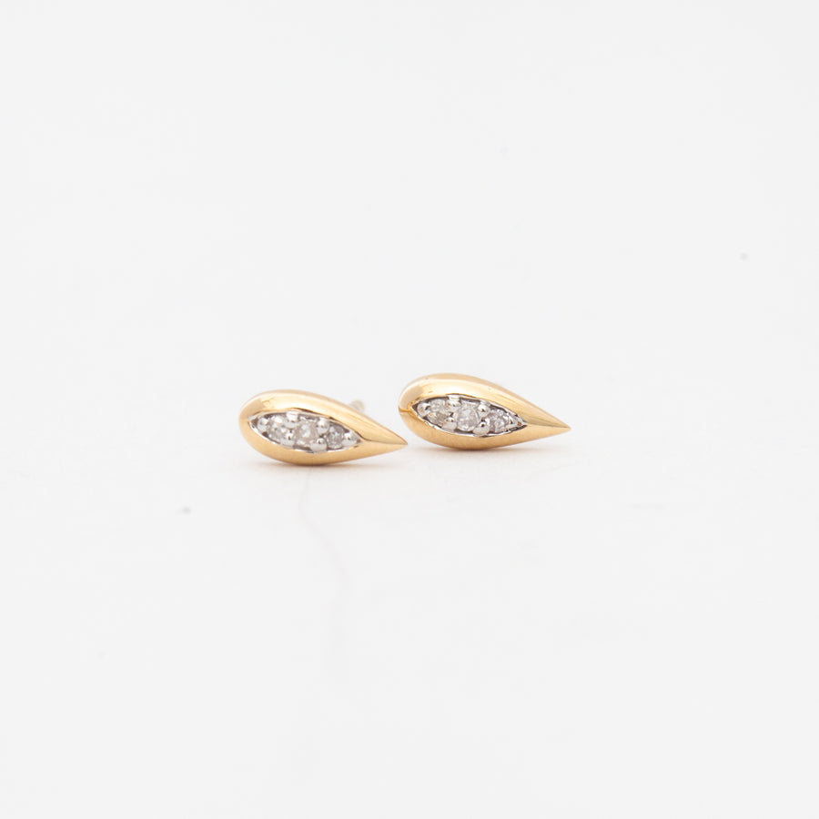 Pavé Water Drop Studs