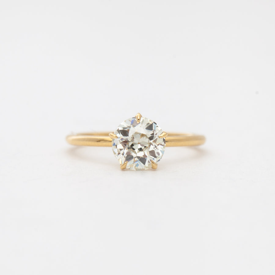 1.42 ct Old European Vault Five-Prong Solitaire