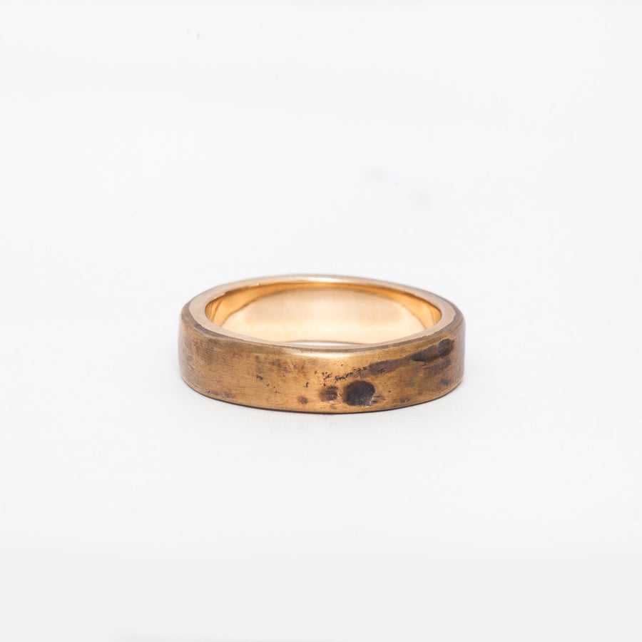 Weathered Bronze & Gold Band