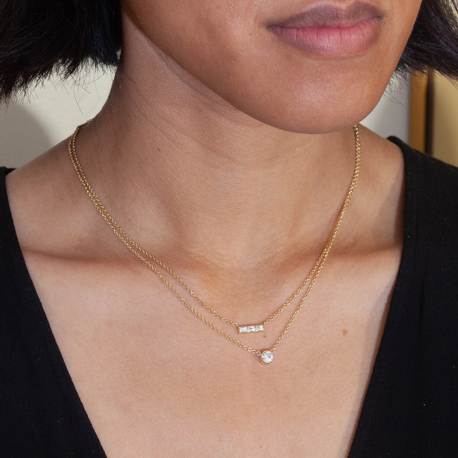 Monet French-Cut Diamond Necklace