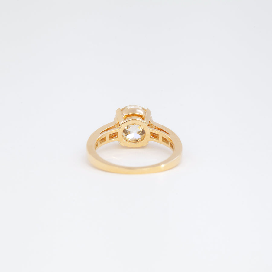 Christina Channel-Set Shoulder Ring