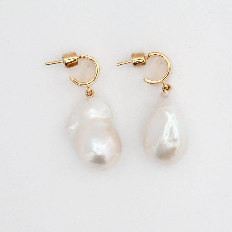 Cuff Pearl Drop Earrings