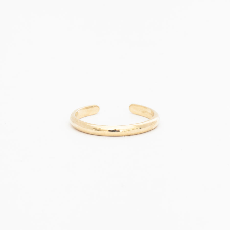 Diamond Baguette Half Round Cuff Ring