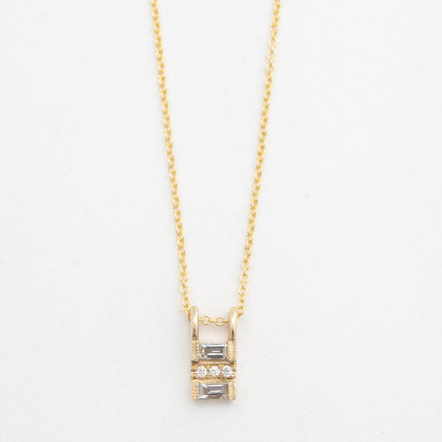 Diamond Baguette Reflection Necklace