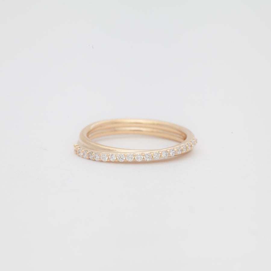 Small Demi-Pavé Current Ring