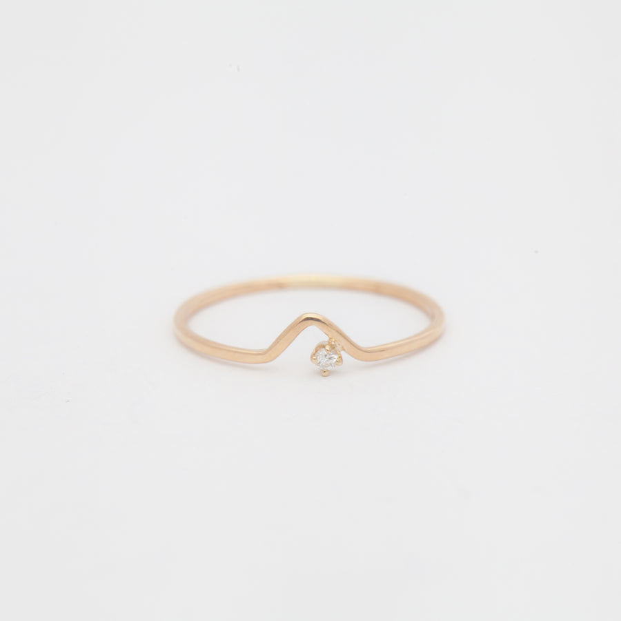White Diamond Triangle Lineage Ring