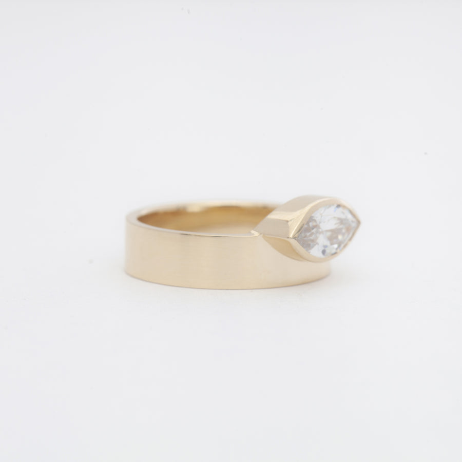Large Marquise Cut Monolith Ring