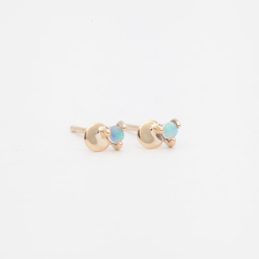 Small Opal Disc Studs